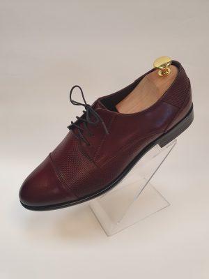 Bordó férfi bőr cipő