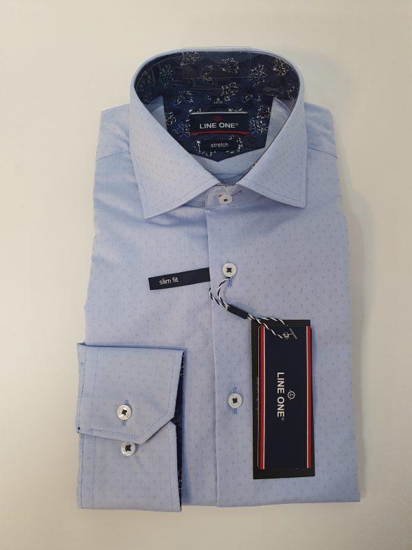 Line One világoskék sztreccs férfi ing
