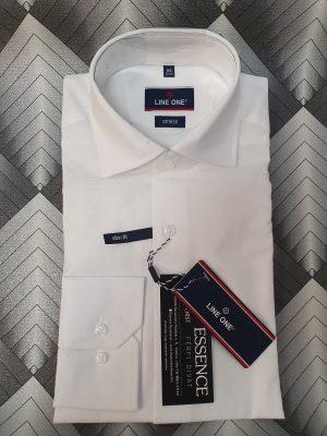 Line One fehér férfi elegáns ing