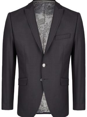 Wilvorst fekete elasztikus öltöny zakó