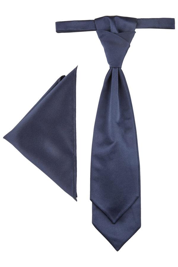 Wilvorst sötétkék francia nyakkendő szett