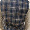 atelier torino bézs-kék kockás mellény