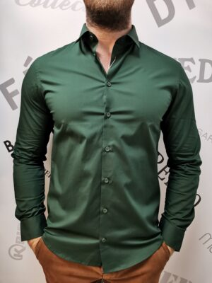 casual friday elasztikus zöld ing