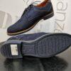 adga navy blue velúr cipő