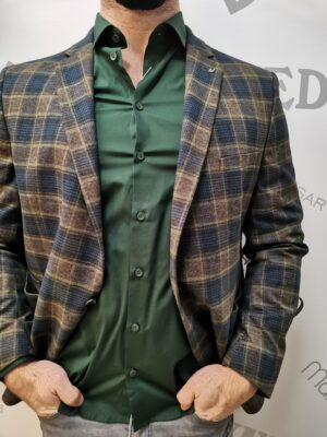 wegener zöld-barna kockás zakó