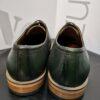 Luciano bellini zöld bőr cipő