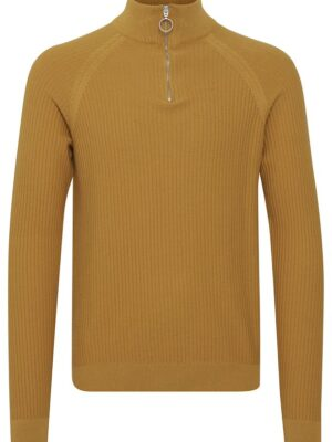 casual friday sárga zipzáros pulóver