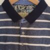 Carlos Cordoba kék-fehér csíkos pique póló