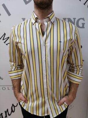 Carlos Cordoba kék-sárga csíkos ing