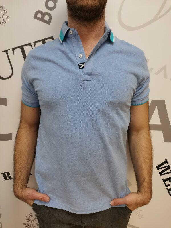 Line one világoskék pique póló