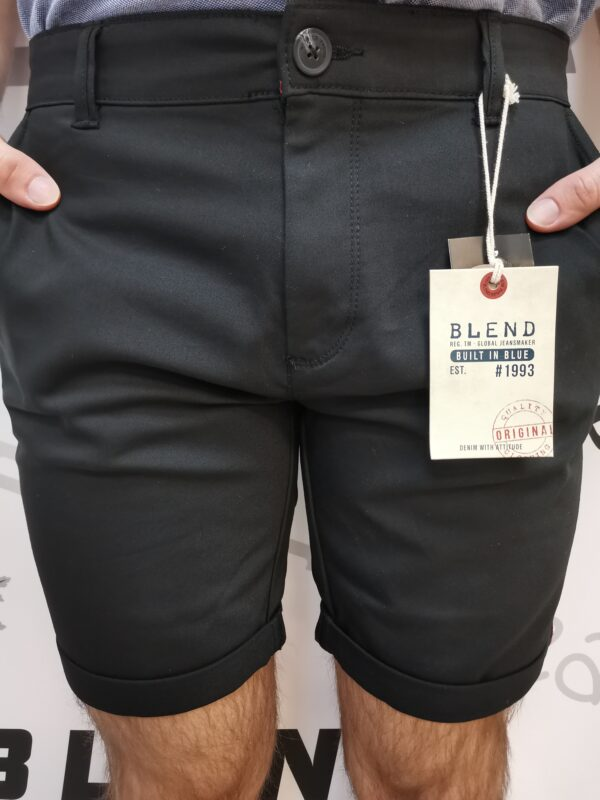 Blend fekete elasztikus bermuda