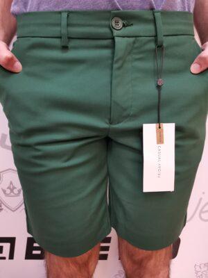 Casual Friday zöld elasztikus rövidnadrág