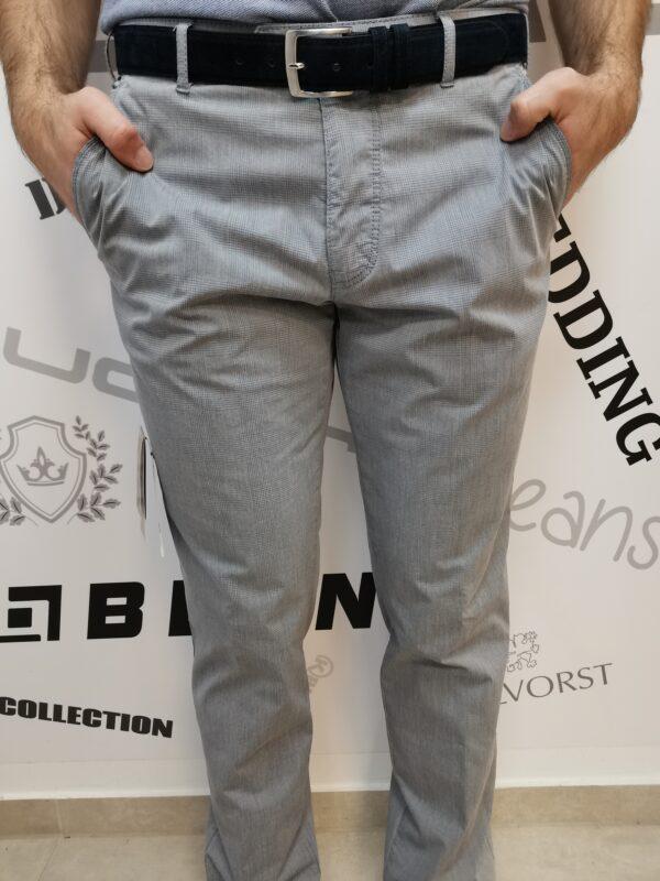 Meyer világos szürke kockás nadrág