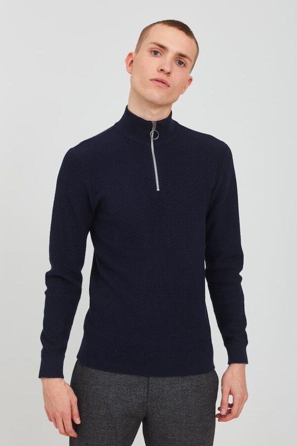 Casual Friday Zipzáros sötétkék pulóver